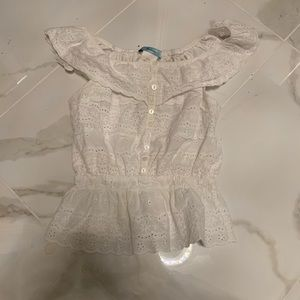 Marciano lace off the shoulder shirt!! Size S!